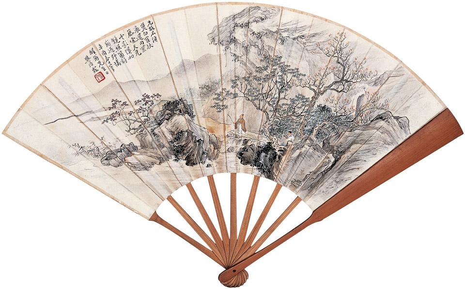 野桥扶杖、篆书书法
