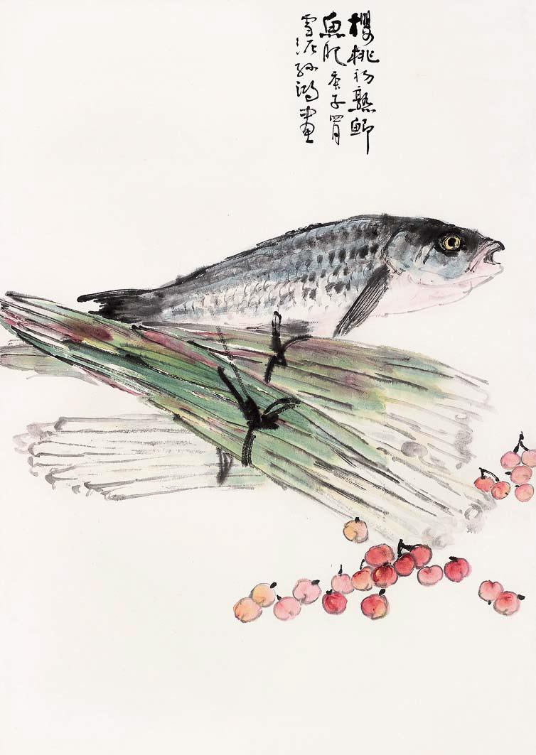 樱桃初熟鲫鱼肥