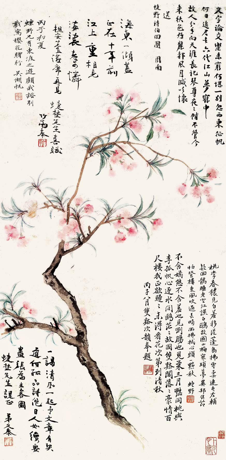 樱花赠陈定山