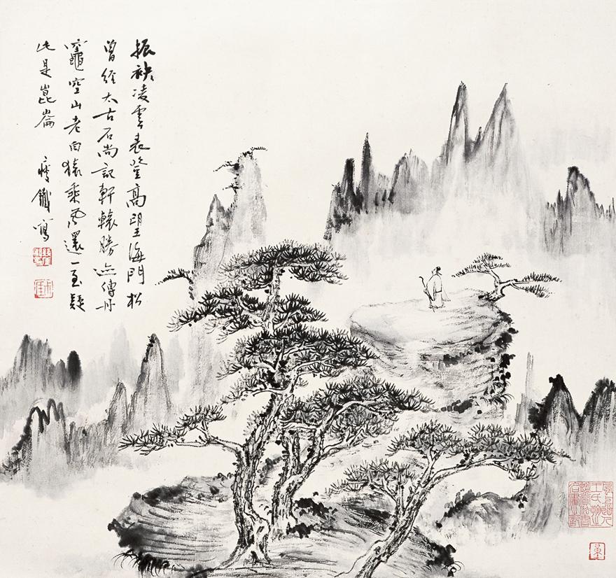 松坡望岳图