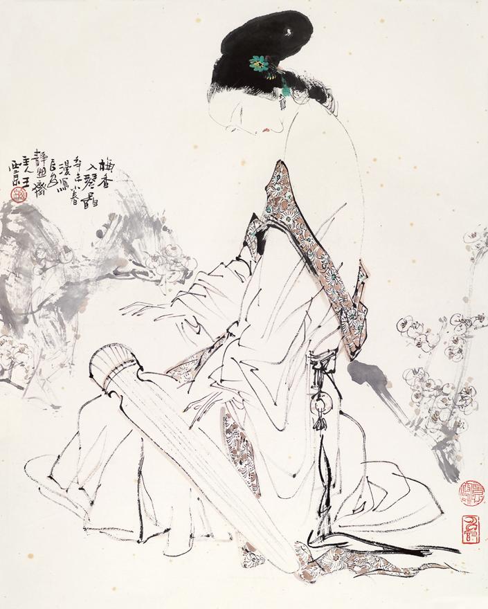 梅香入琴图