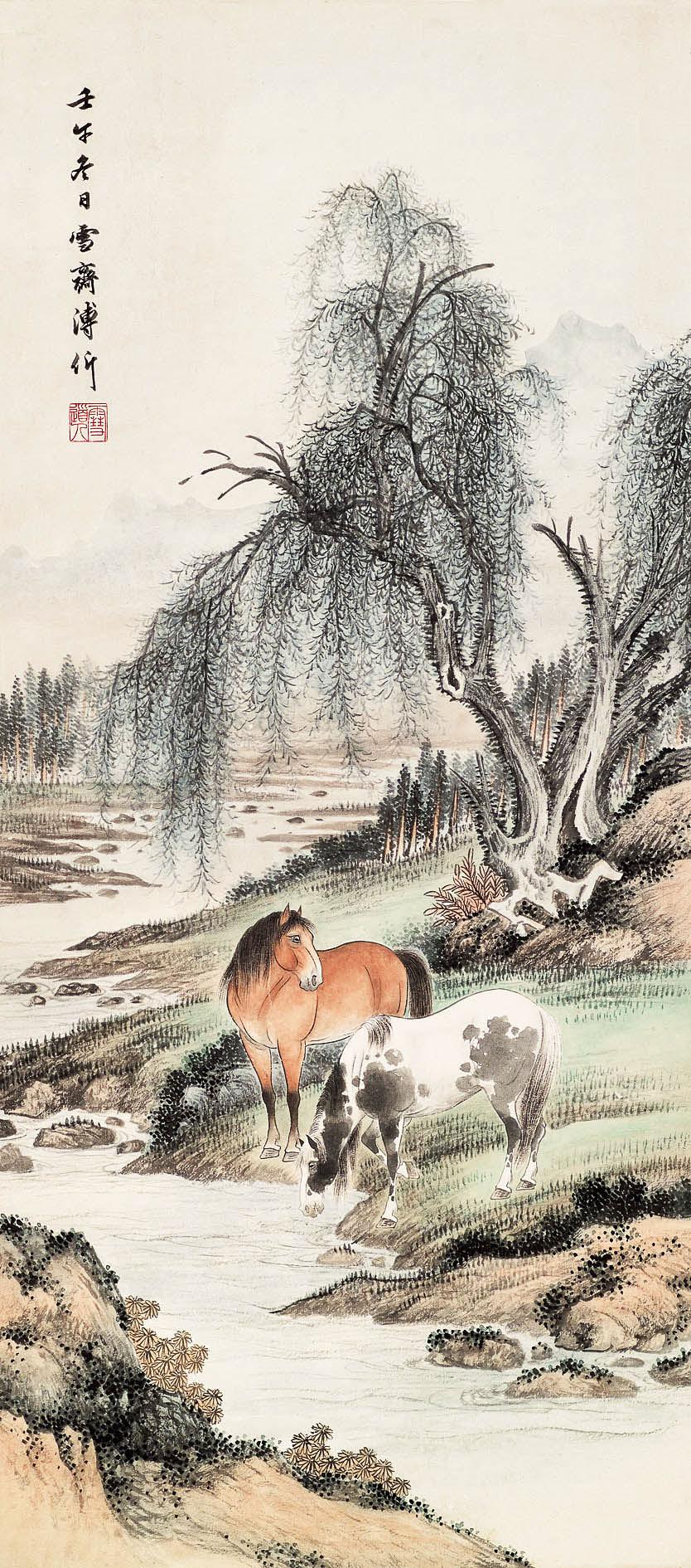 郊荫牧马图