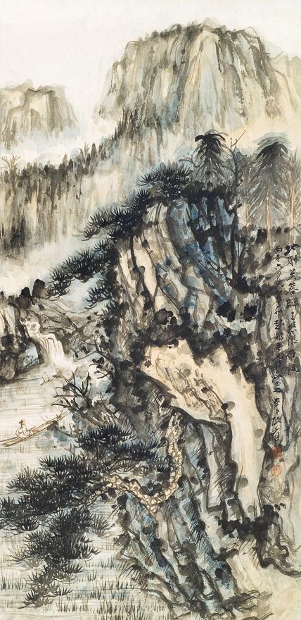 天峰飞瀑图