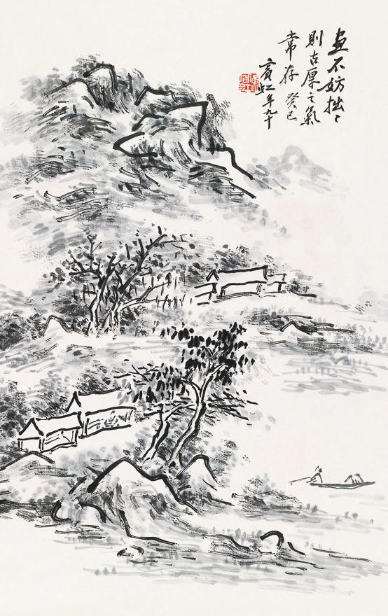 秋江独钓图