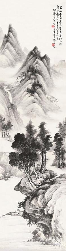 溪山横棹图