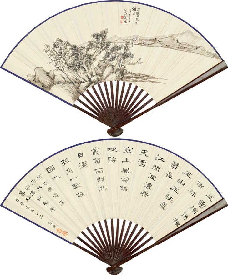 松江独舟图