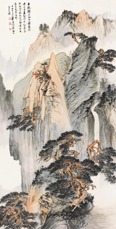 黄山奇峰图