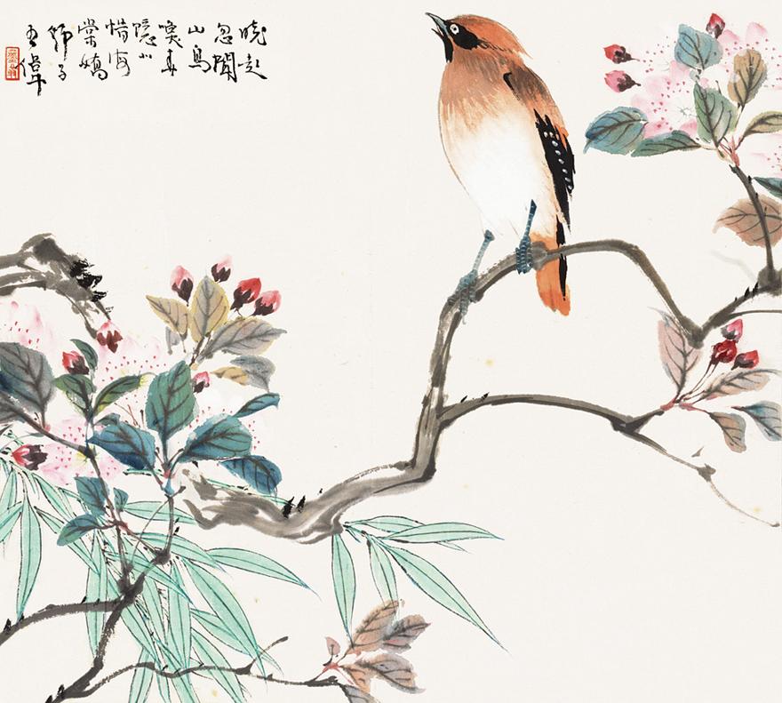 鸟唤海棠娇