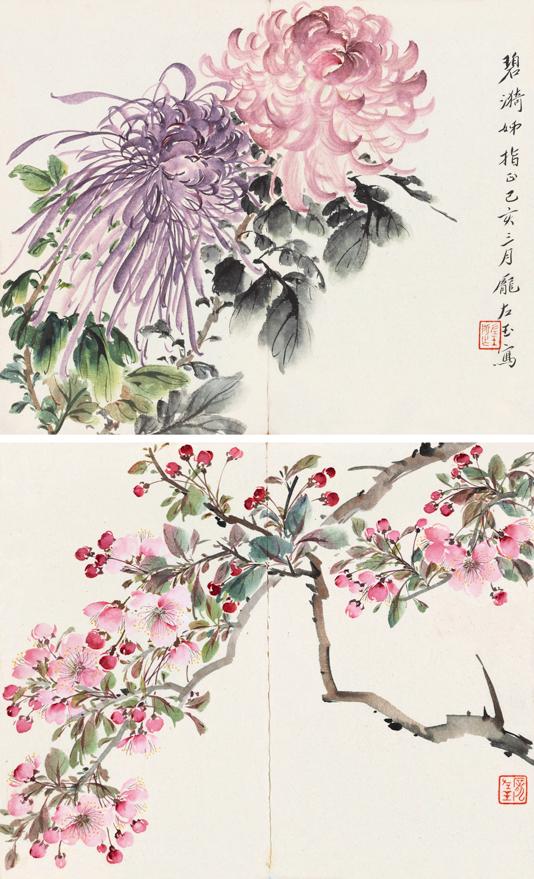 菊花与桃花