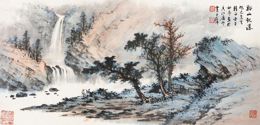 溪山观瀑图