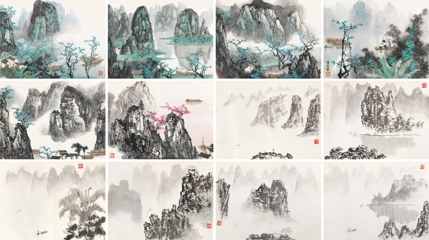 桂林山水画册