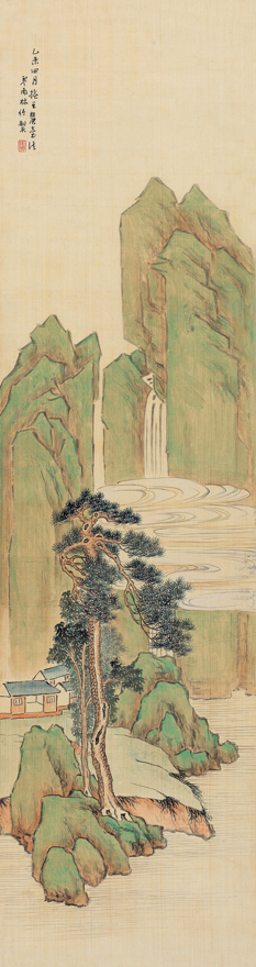 溪岸松树图