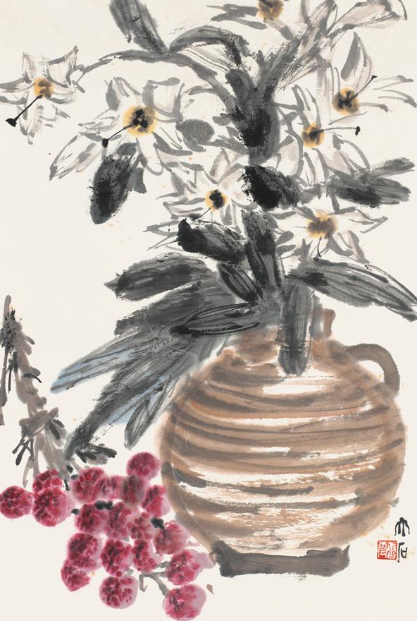 花卉荔枝图