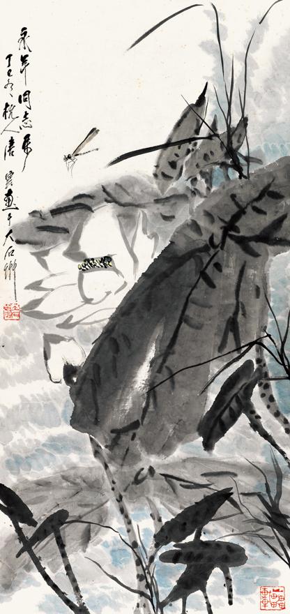 荷塘蜻蜓图