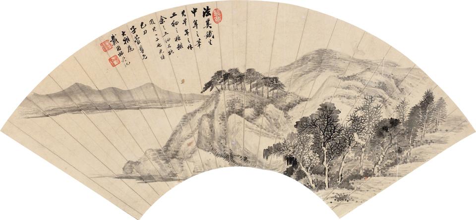 河畔清景图