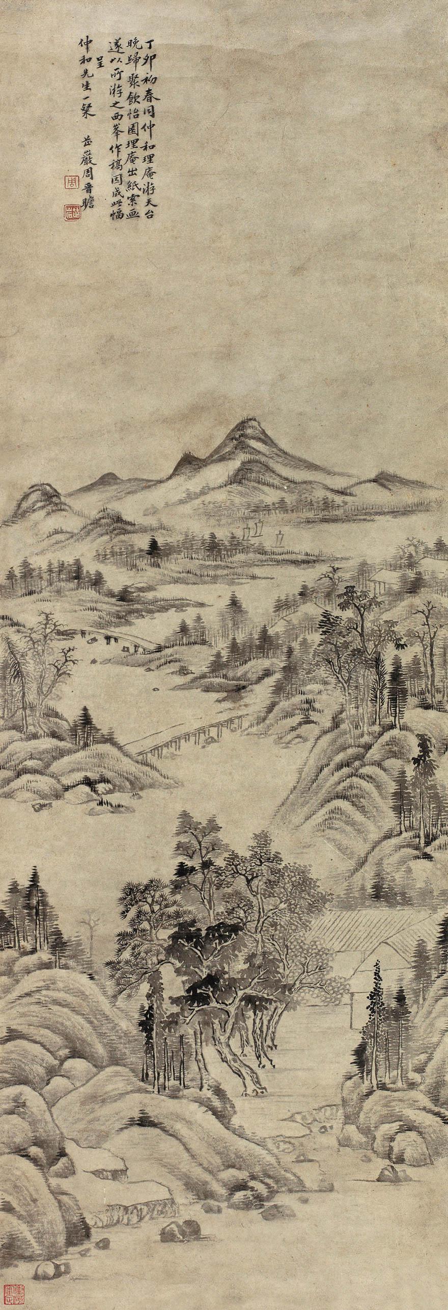 天台山西峰图