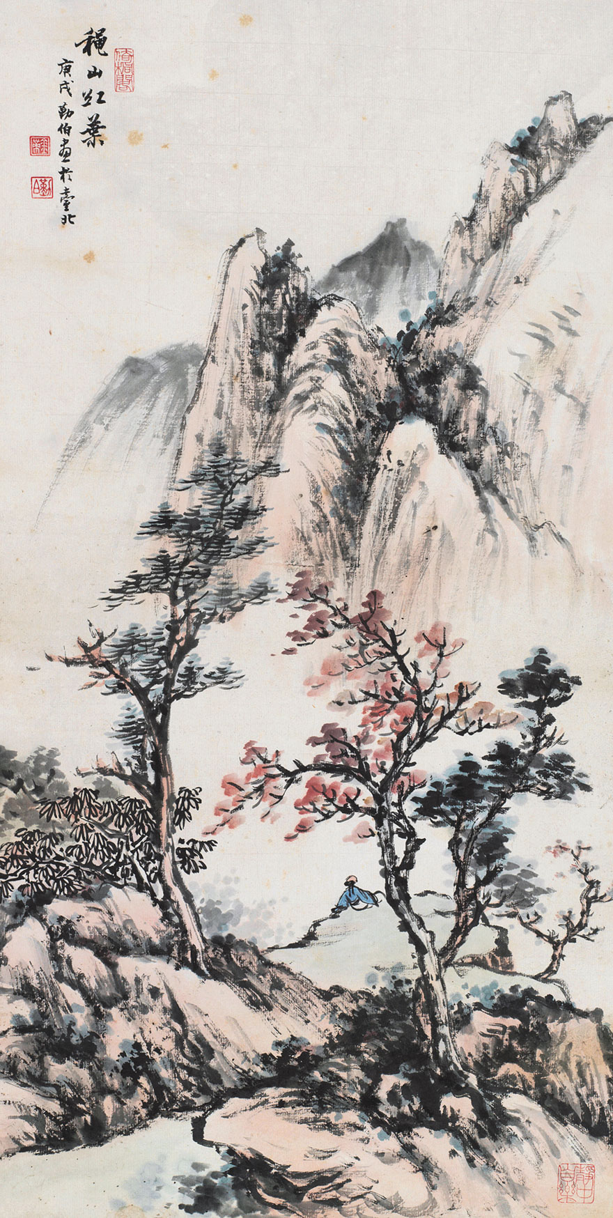 秋山红叶图