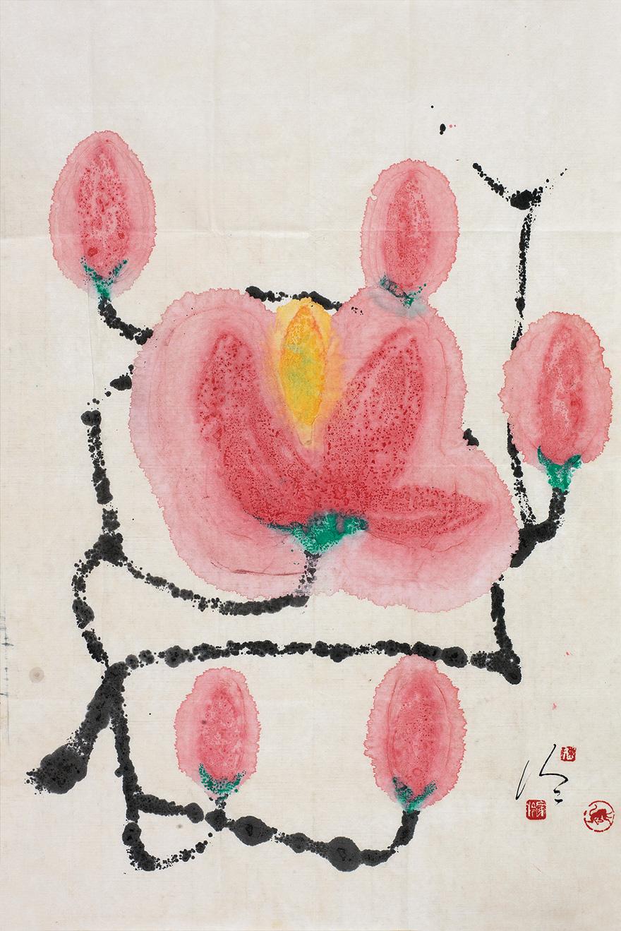 桃花朵朵图