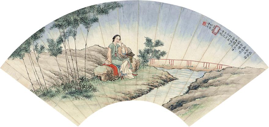 溪畔仕女图