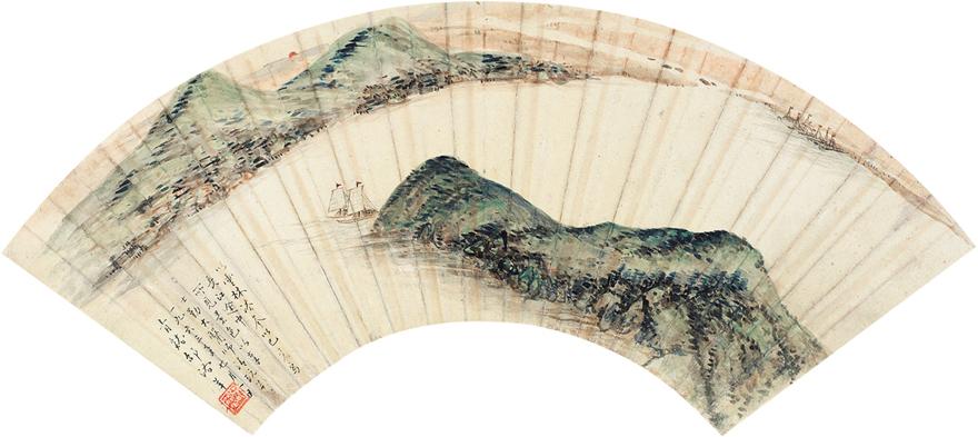 长江帆影图