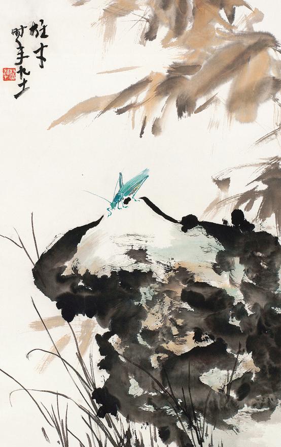 蟋蟀鸣秋图