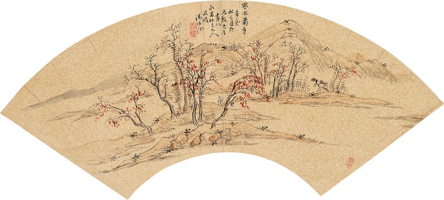 寒林箫寺图