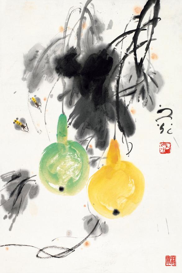蜜蜂葫芦图