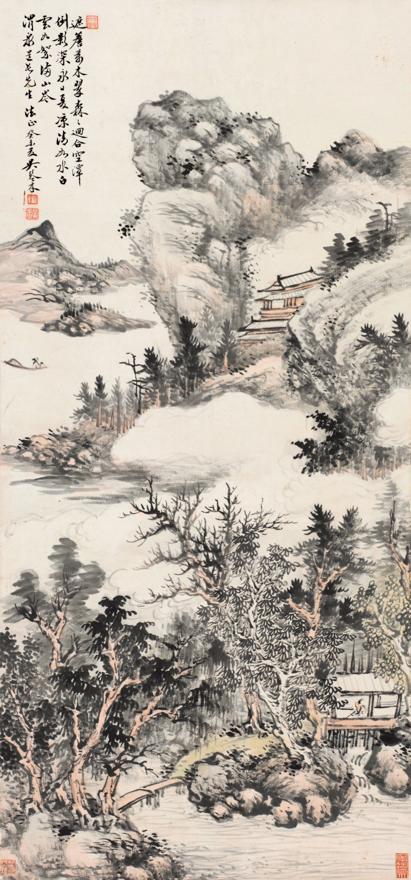 山岑夏凉图