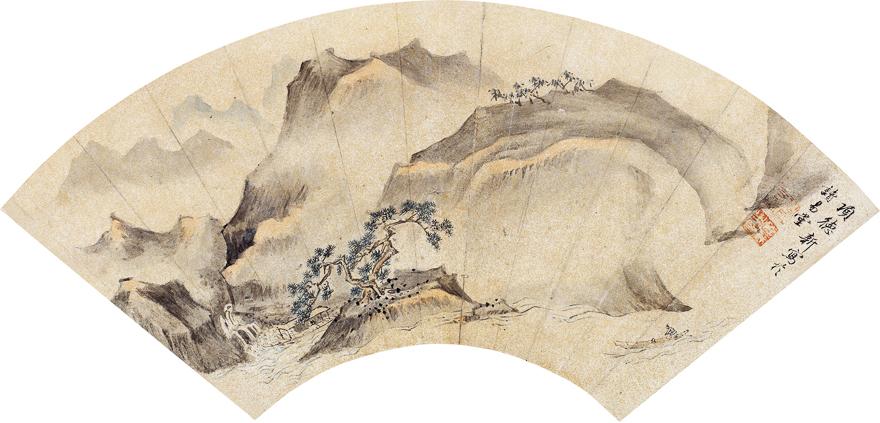 清山泛舟图
