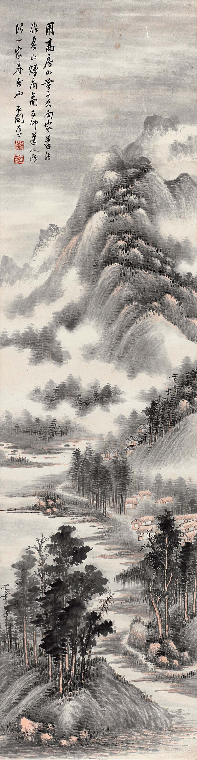 夏山烟雨图