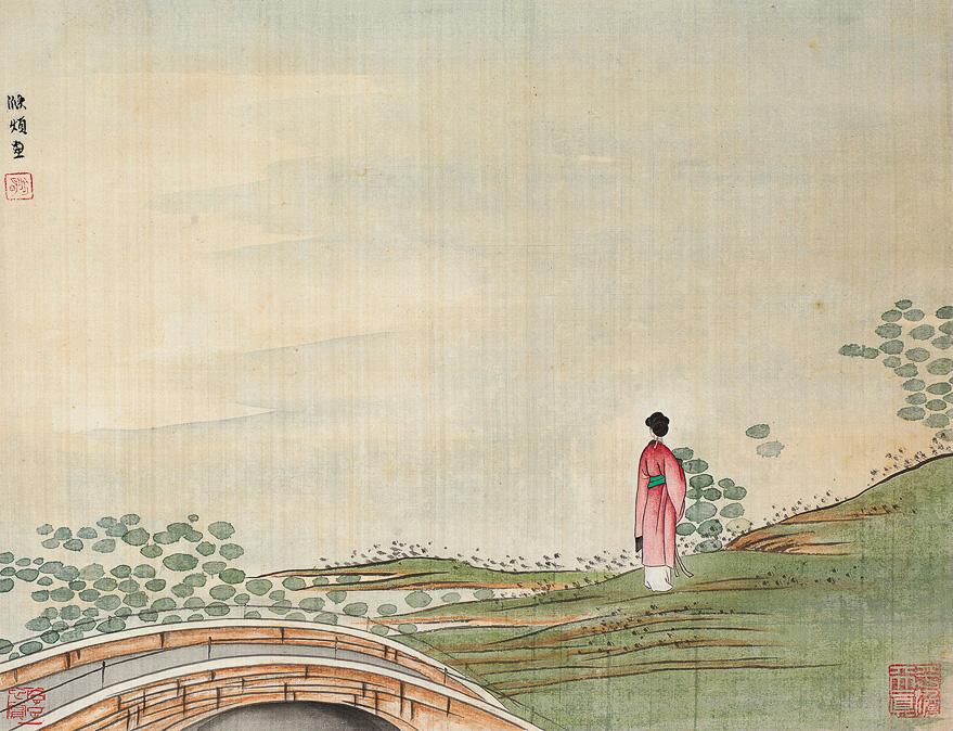 烟江仕女图
