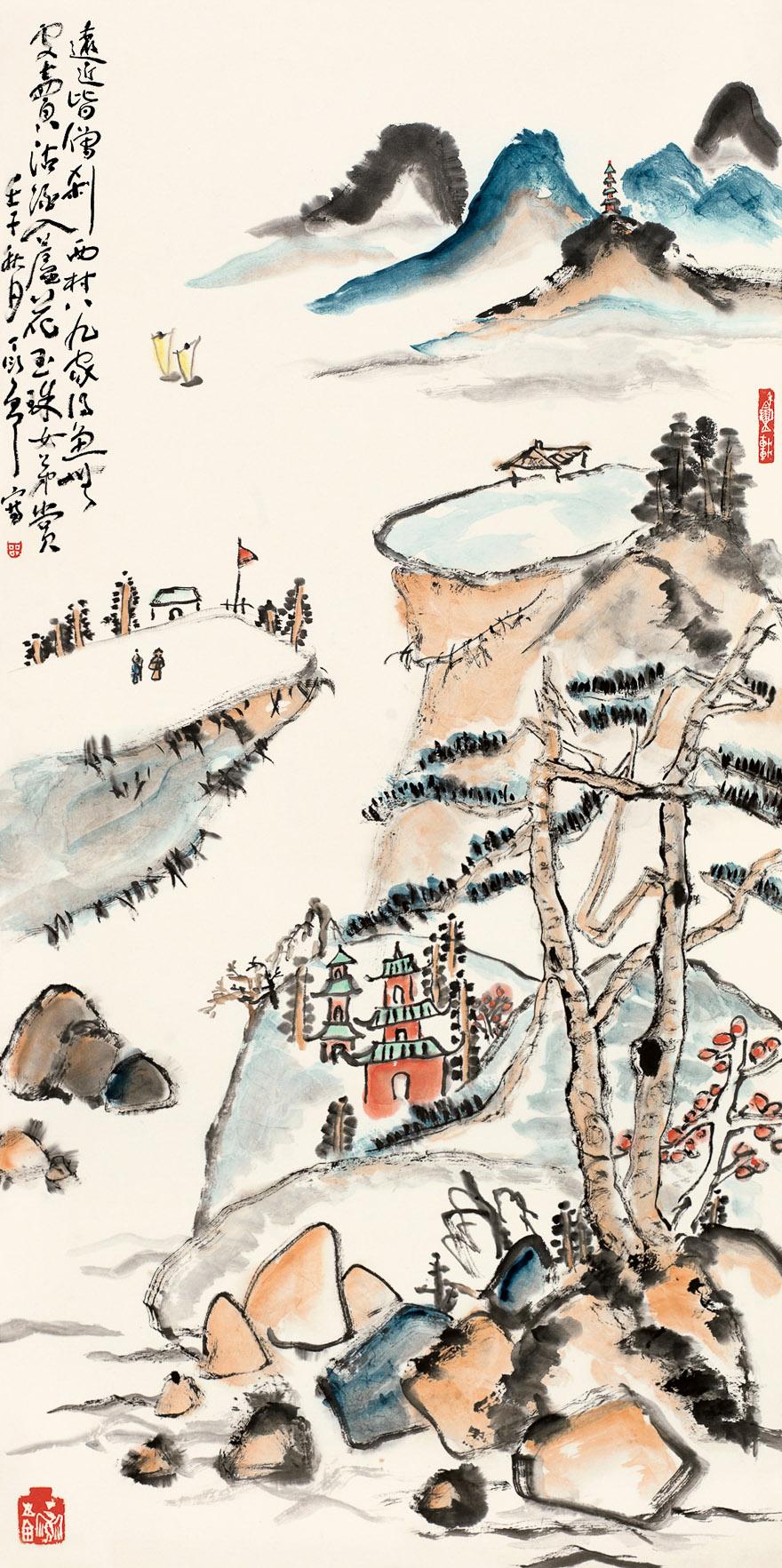 溪山积翠图