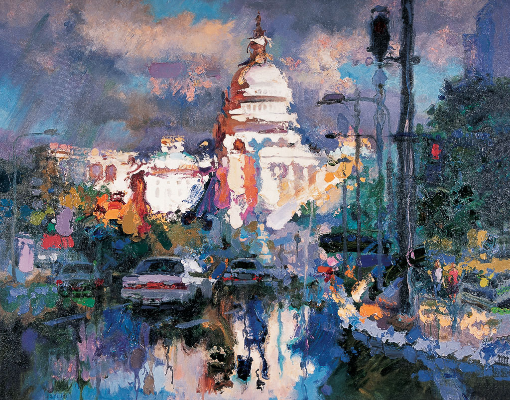 雨后的国会大厦