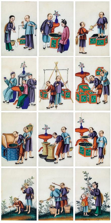 茶贸图(十二幅)