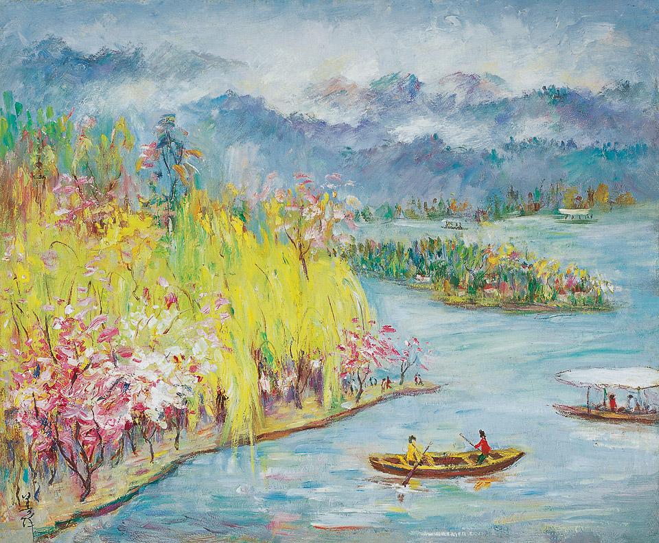 西湖的春天