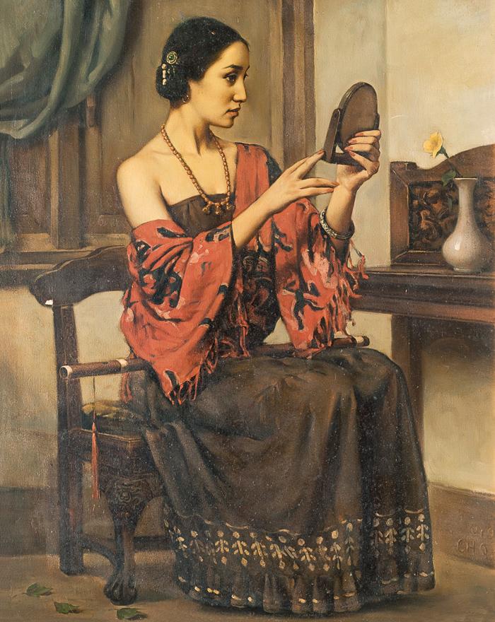 镜子里的姑娘