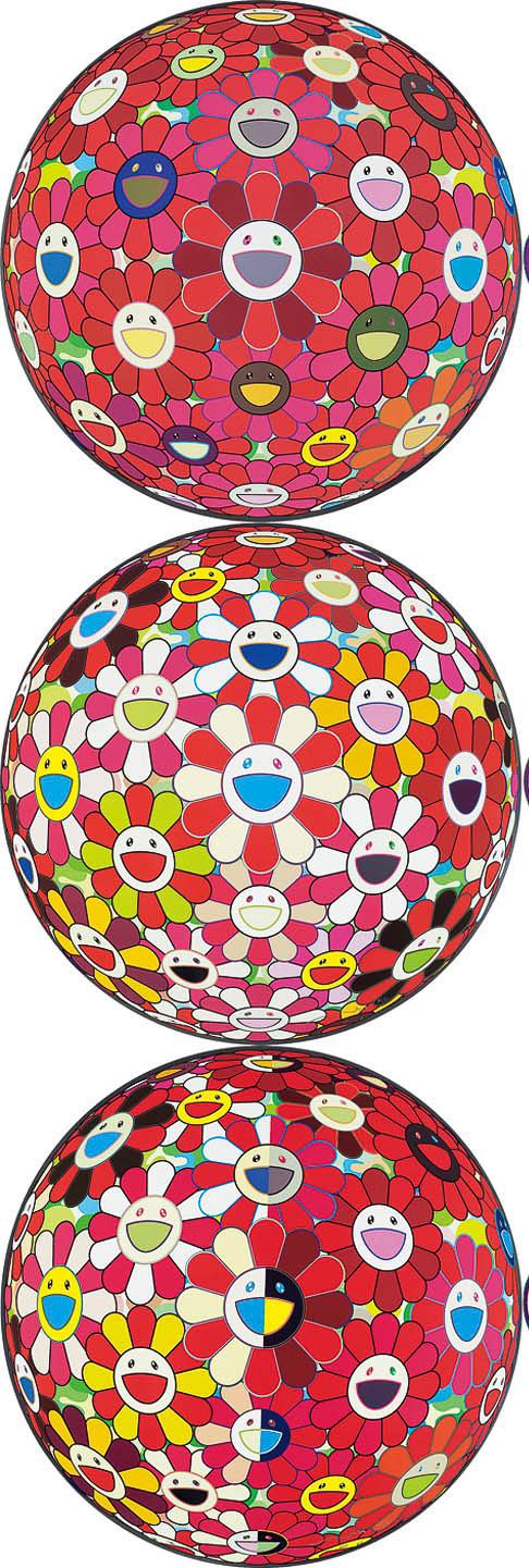 花球之3D红岩(99/300) ,花球之3D金鱼色(81/300),花球之3D魔笛(209/300)