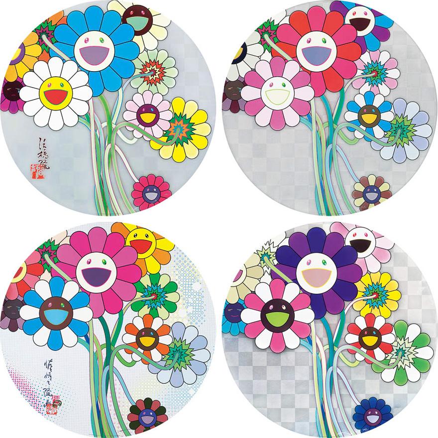 献给阿尔吉侬的花束 (185/300) ,沃霍尔银 (112/300) ,数码王国之花(129/300) ,紫花束(120/300)