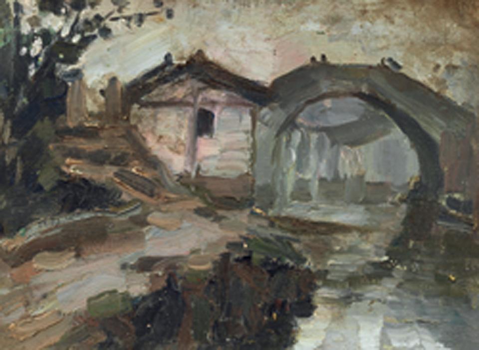 上海南市街景(双面画)