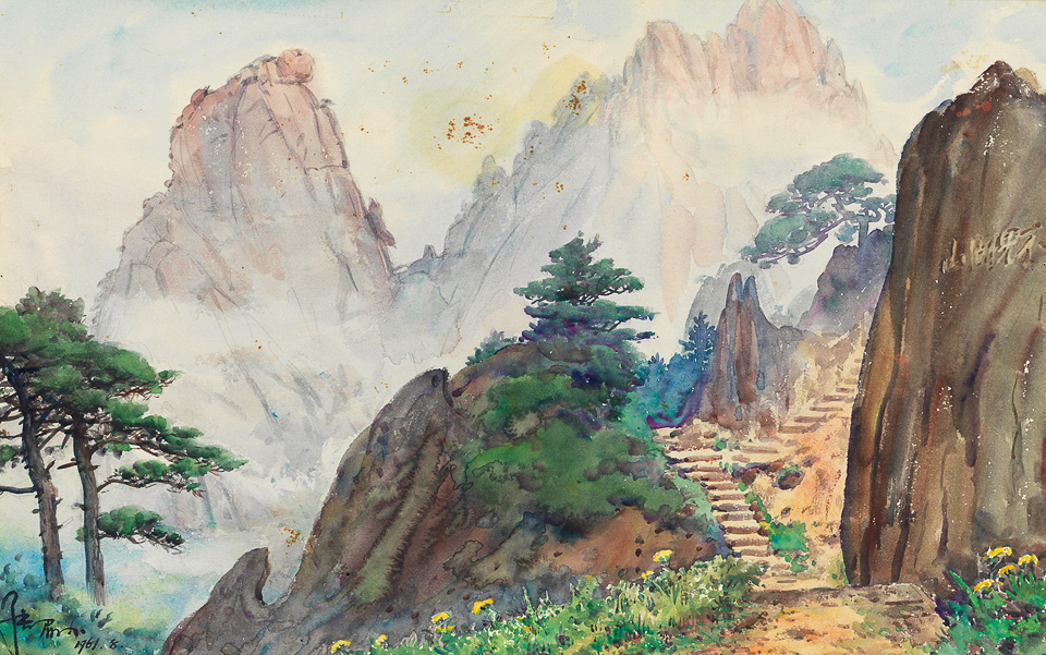 黄山不见湖山