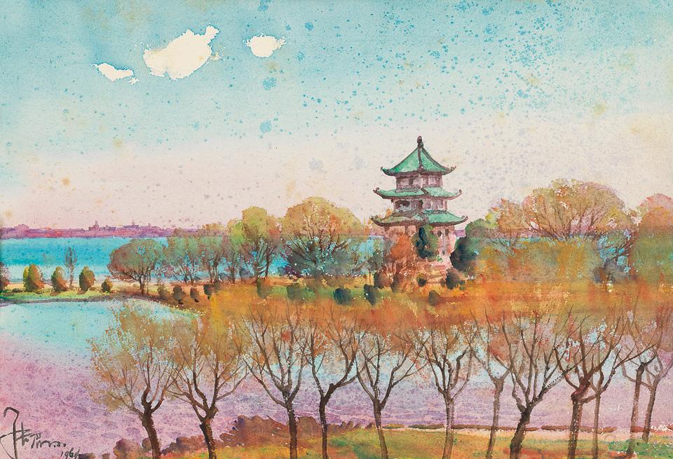 武昌东湖行吟阁