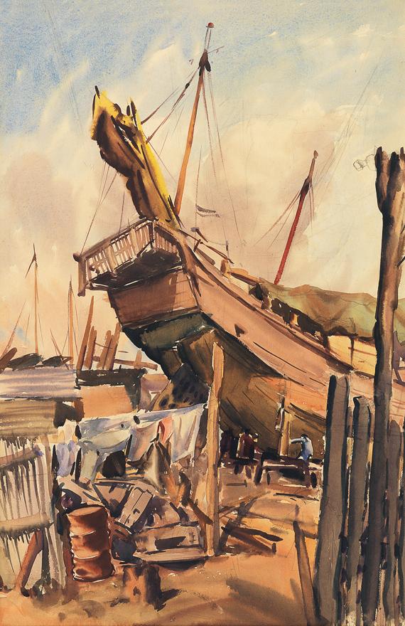 船坞(双面画)