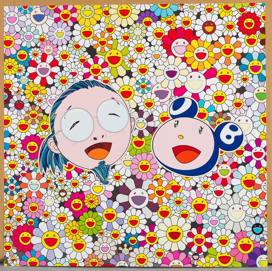 带着黄色草帽的女子(214/300)/Mr.DOB和我(129/300)/小花朵儿,好可爱啊之一(131/300)/ 之二(174/300)(四幅)
