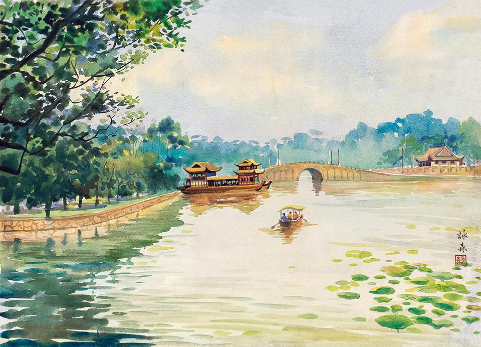 西湖风景之二(三幅)