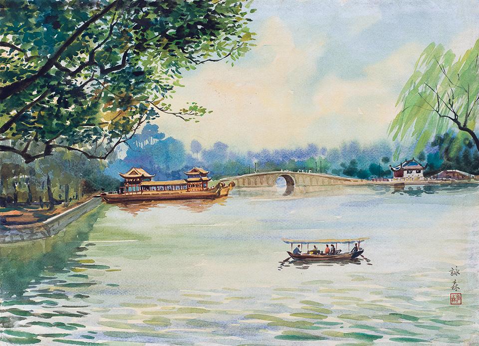 西湖风景之三(三幅)