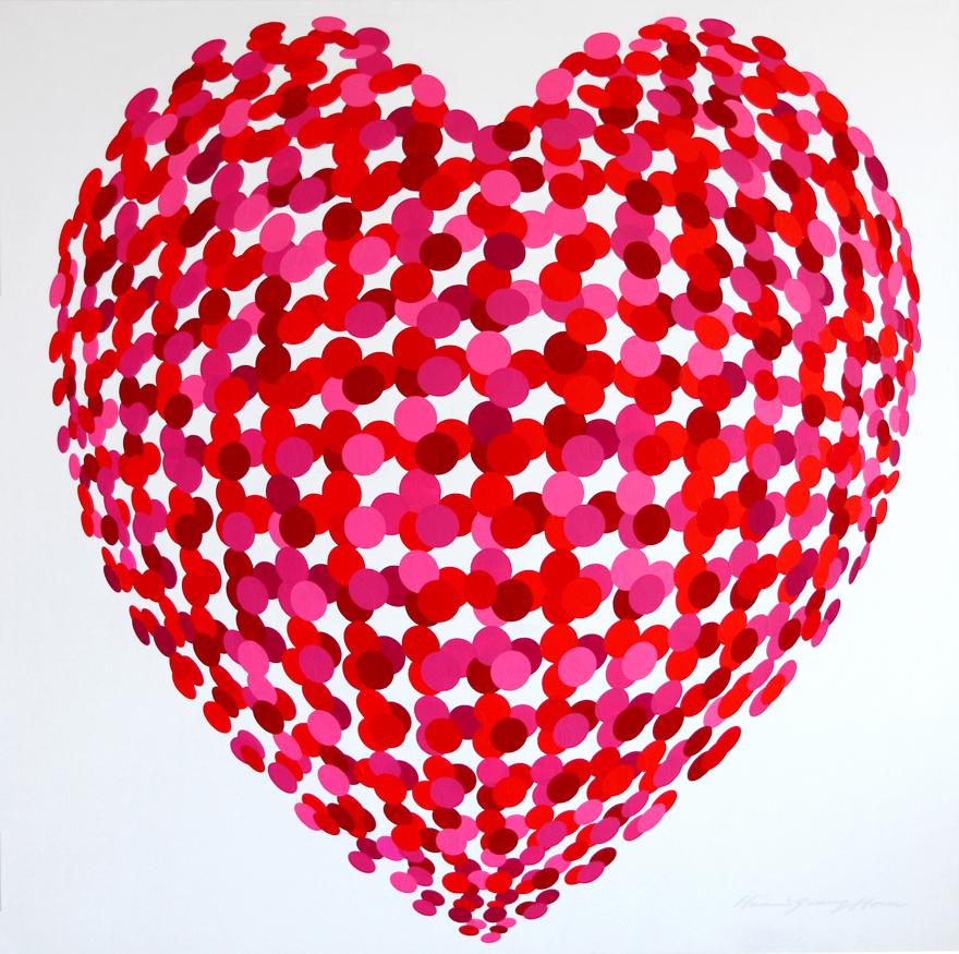 爱,由540个圆点组成