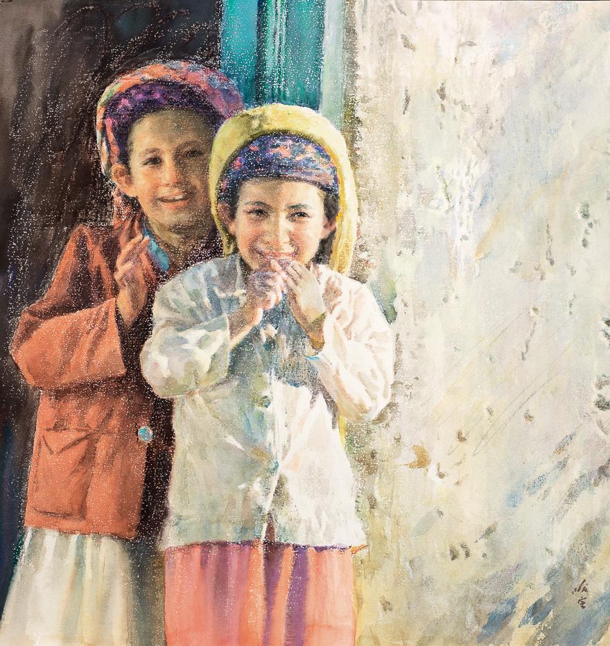 两个塔吉克族女孩