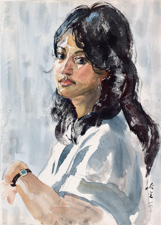 留尼旺青年女画家