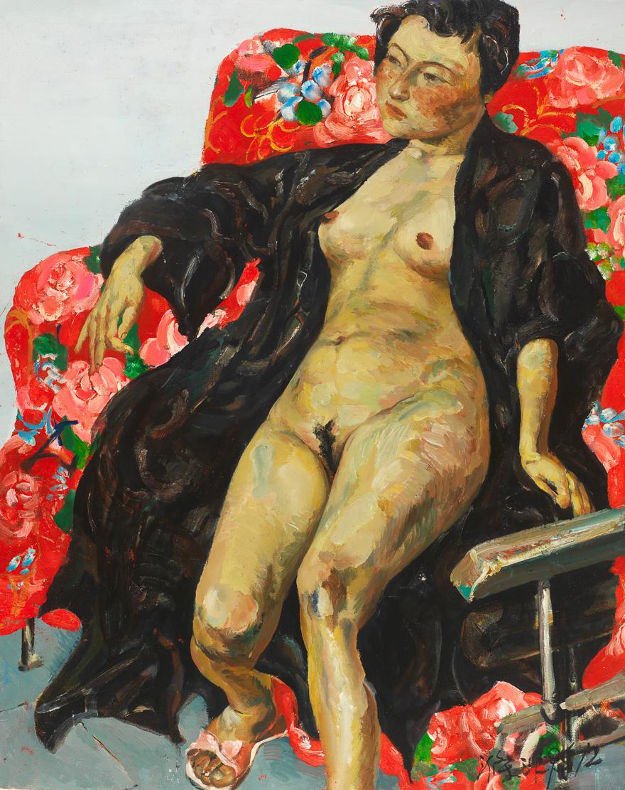 椅子上的裸女