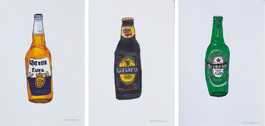 啤酒系列(一组三幅)